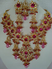 South Indian Traditional Jewellery gold tone MULTY design necklace set earring