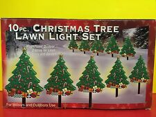 10pc Christmas Tree Lawn Light Display Holiday Decorations New In Box