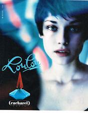 PUBLICITE  1994   LOULOU  parfum CACHAREL
