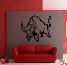 Wall Stickers Vinyl Decal Angry Bull Animal Corrida Spain Decor  (z1863)
