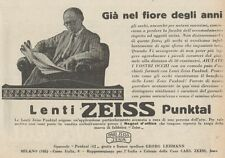 Z1843 Lenti ZEISS Punktal - Pubblicità d'epoca - 1929 Old advertising