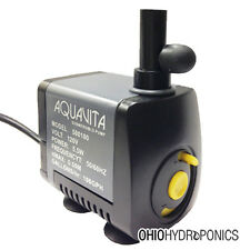 AquaVita 100 gph Water Pump hydroponics aquaponics