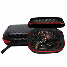 Zip Carrying Storage Bag Pouch Hard Case For Earphone Headphone Earbud SD Card