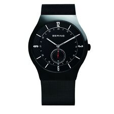Bering Time 11940-222 Mens All Black Classic Watch