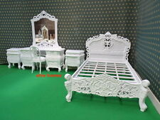 Small Double or Double size White French style designer Rococo Bed TOP QUALITY