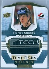 SIDNEY CROSBY 2016-17 TRILOGY TRYPTICHS GAME USED STICK SP/10