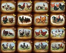 16 CHICKEN ROOSTER VINTAGE 155 LB PAPER CRAFT CARD SCRAPBOOK TAG