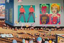 """Hiro Yamagata       """"Warhol Museum""""       Serigraph on Paper   BA"""