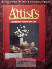 ARTISTS February 1990 Stephen Gjertson Still Lifes Claudia Nice Encaustic