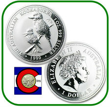 1999  Australia Kookaburra 1 oz. Silver Coin - BU direct from Perth Mint roll