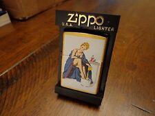 BLONDE WASHING FEET PINUP GIRL BRASS ZIPPO LIGHTER MINT 1998