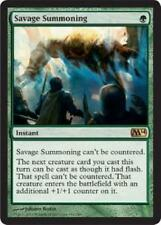 4X Savage Summoning - LP - M14 2014 Core Set  MTG Magic Cards Green Rare