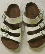 WOMENS WHITE SANDALS SIZE 37 45 BIRKI'S BIRKENSTOCK MADE IN GERMANY