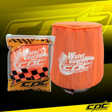 Water Guard Cold Air Intake Pre-Filter Cone Filter Cover for F250 Medium Orange