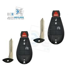 2 NEW Uncut Replacement Key-Fob Keyless Entry Remote for Chrysler 2008-2011 300