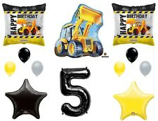 CONSTRUCTION 5th Fifth Happy Birthday Party Balloons Decoration Supplies Truck