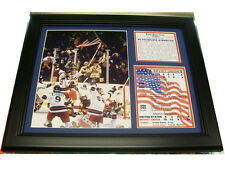 11X14 FRAMED 1980 OLYMPICS MIRACLE ON ICE TEAM PHOTO USA WIN  8X10 CELEBRATION