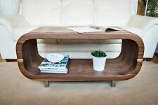 Designer Walnut Coffee Table / TV Stand / Accent Table - iShape Slim by KRÖMM