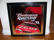 Budweiser Racing #8 Dale Earnhardt Jr. mirror NEW NEVER DISPLAYED Bud NASCAR