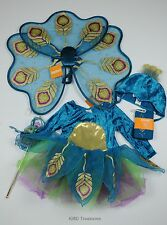Gymboree Peacock Costume Halloween Girls Wings Wand Tights Headpiece 2T 3T
