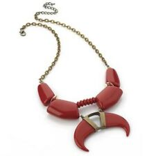Red Tribal Tooth Necklace Ethnic Jewellery