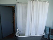 """Heavy Duty Clawfoot Shower Curtain Extra Large/White Less Magnets 180"""" X 70"""""""