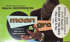 Mark Morrison Moan & Groan Tape Single R&B HTF OOP Sealed 1996 B-BOY Phil Chill