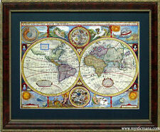 Old World Map Cartography by John Speed  Framed A+ Quality