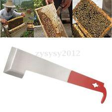 Beekeeping Tool J Shape Red Curved Tail Bee Hive Hook Stainless Steel Scraper