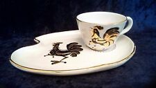 "J. W. Co. Italian ""Gallo D'oro"" rooster mug and snack plate set"