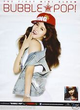 "HYUNA ""BUBBLE POP"" ASIAN PROMO POSTER -4 Minute, Wonder Girls, Girl K-Pop Music"