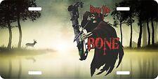 Hunting Grim Reaper Bone Bow Deer Hunter Lake License Plate Car Truck Tag