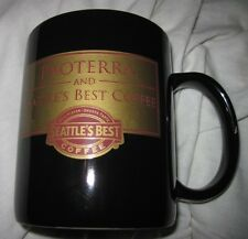 PROTERRA AND SEATTLE'S BEST COFFEE MUG / CUP BLACK & GOLD CERAMIC Excellent Con