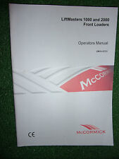 McCORMICK 1000 & 2000 LIFTMASTER FRONT LOADER OPERATORS MANUAL HANDBOOK 2004