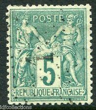 France Sage N°75 oblitération cachet Etoile de Paris N°1 du jour de l'an