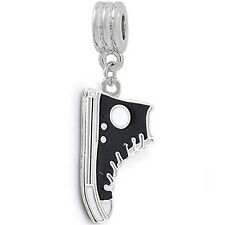 Converse Shoe Dangle Charm European Bead Compatible for Most European Snake Chai