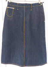 "Evisu Classic Denim Skirt ~ M (28"" waist & 26"" Long) ~ Genuine & Authentic"