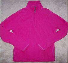 EUC Reebok Women's Ladies Fleece Running Casual Jacket Pullover 1/2 Zip Small S