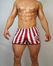 MEN'S USED striped SPORTS SHORTS SMALL