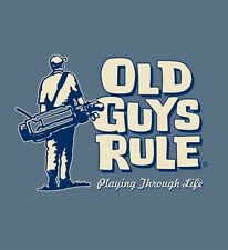 "OLD GUYS RULE PLAYING "" THROUGH "" LIFE GOLF CLUBS BAG BALLS IRONS S/S M"
