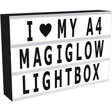 A4 CINEMATIC LIGHT UP LETTER BOX  LED SIGN WEDDING PARTY CINEMA PLAQUE SHOP USB