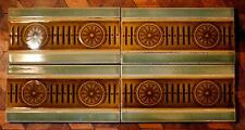 4x Antique Victorian Aesthetic Border Half Tile Majolica Fireplace 3 LOTS AVAIL!