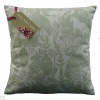Designer Clarke and Clarke Westonbirt Sage Green fabric Cushion Cover