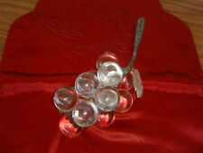 Vintage Hand Blown Glass Grape Cluster Silk Wrapped Stem