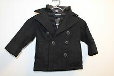 Zara Kids Smart Wool Double Breasted Coat In Navy Age 3-4, VGC