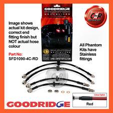 Ford Mondeo ST220 2003 Goodridge Stainless Red Brake Hoses SFD1090-4C-RD