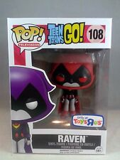 Funko Pop Television 108 Teen Titans Go! Raven Red Toys R Us Exclusive
