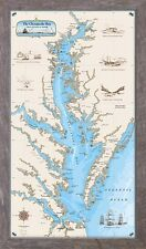 Framed Original Chesapeake Bay Chart - Nautical Art Print Map