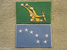 Original Starry Plough & Blue Starry Plough 2 Patch Set Easter Rising 1916 Eire