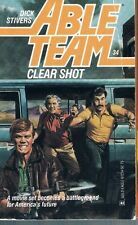 Mack Bolan's Able Team #34: Clear Shot by Dick Stivers 1988, PB Pulp Trash